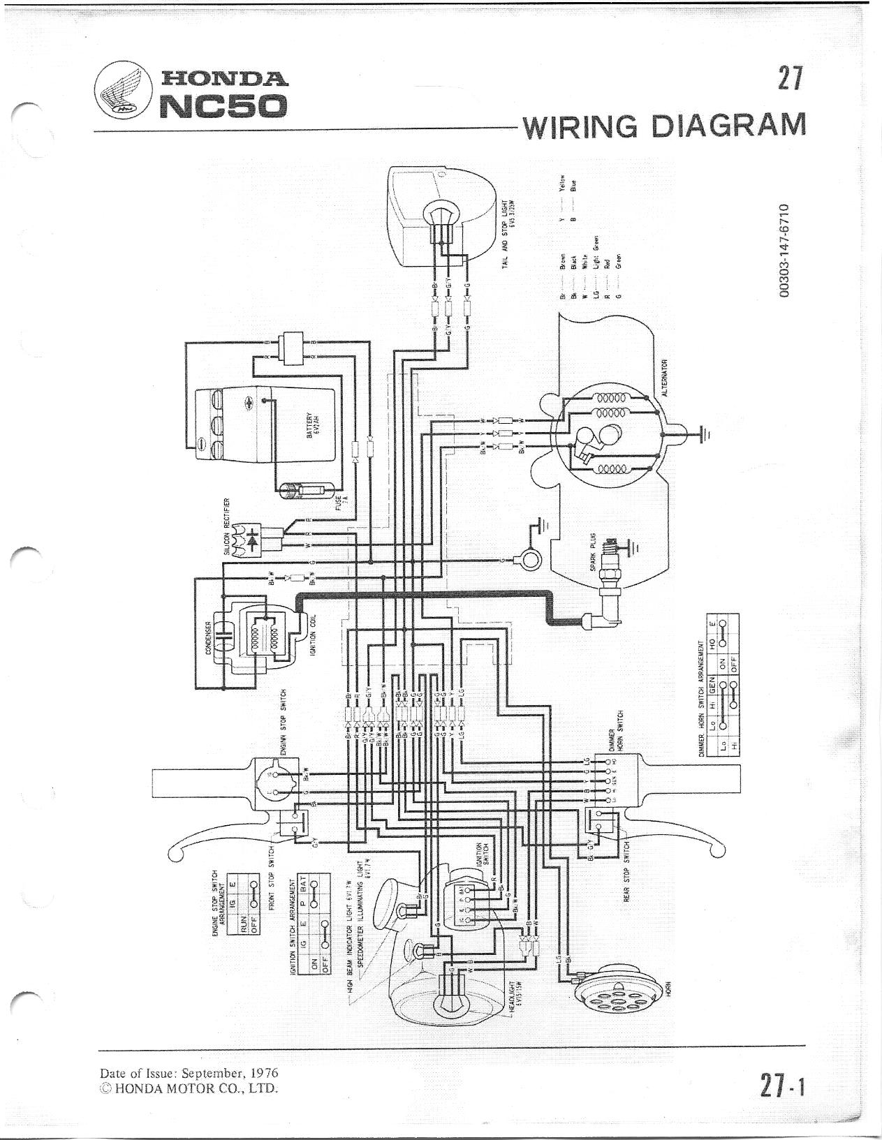 re  nc50 wiring diagram  u2014 moped army