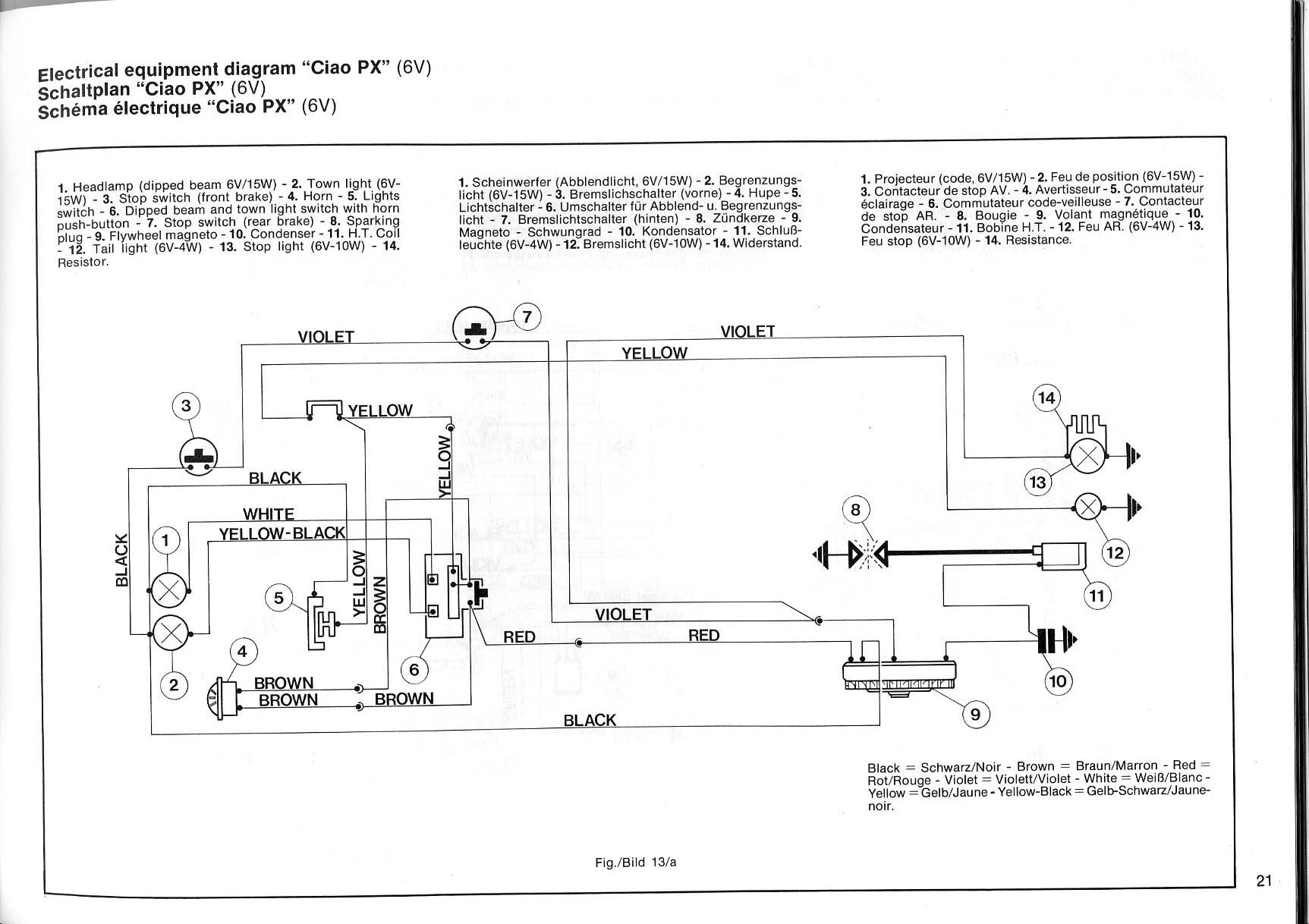 Kinetic Engine  Vespa Wiring  How Do I Get Lights   U2014 Moped